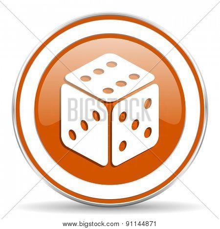 casino orange icon hazard sign
