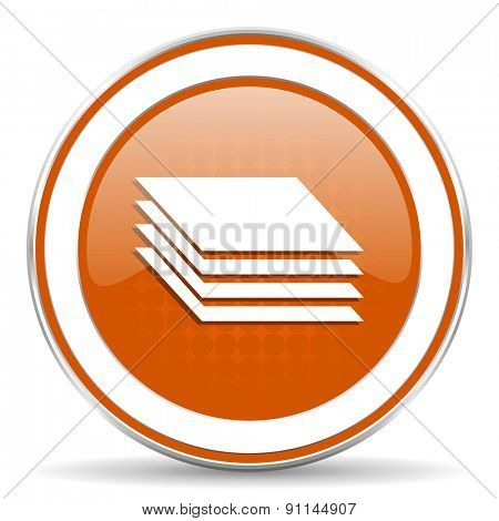 layers orange icon gages sign