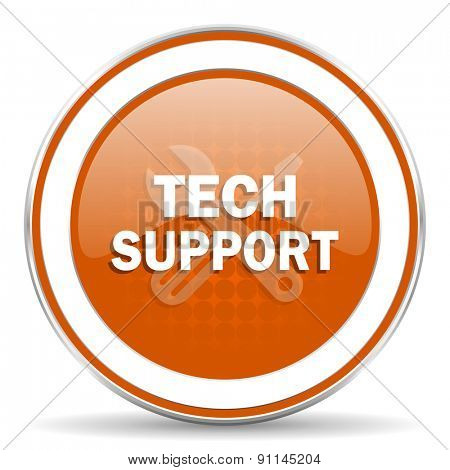 technical support orange icon