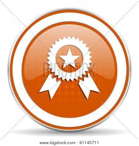 award orange icon prize sign