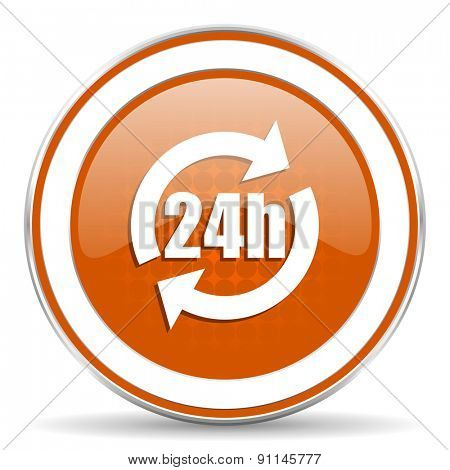 24h orange icon