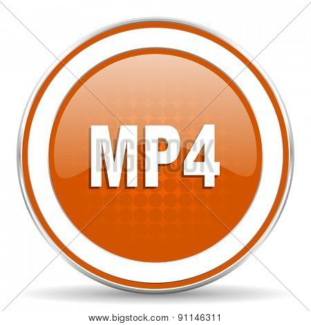 mp4 orange icon