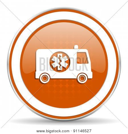 ambulance orange icon