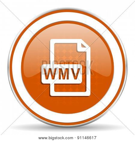 wmv file orange icon