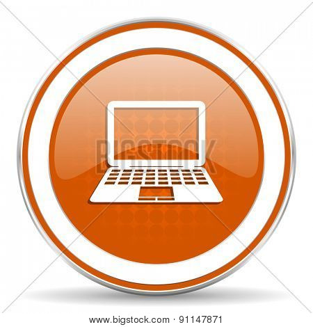 computer orange icon pc sign