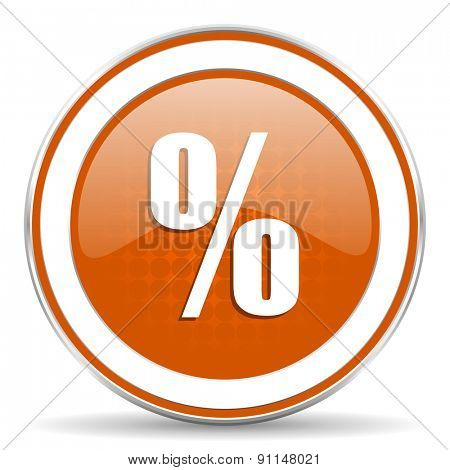 percent orange icon