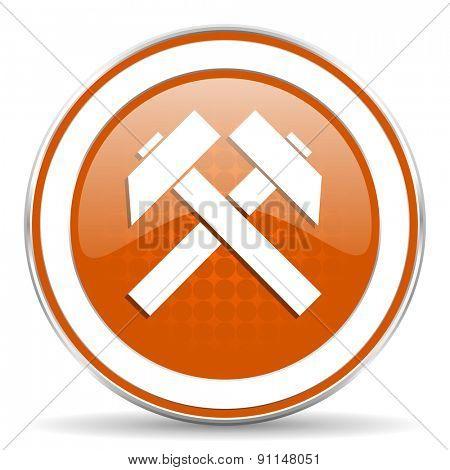 mining orange icon