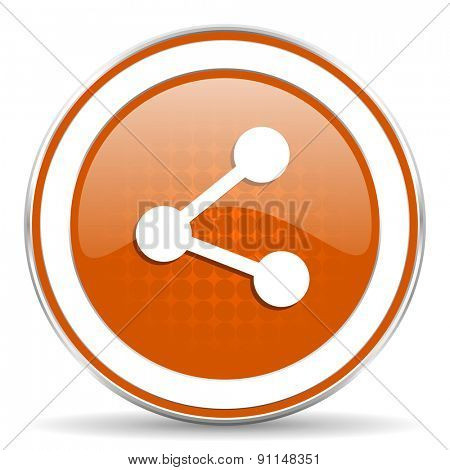 share orange icon