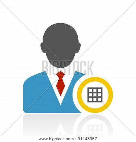 Color Businessman Icon