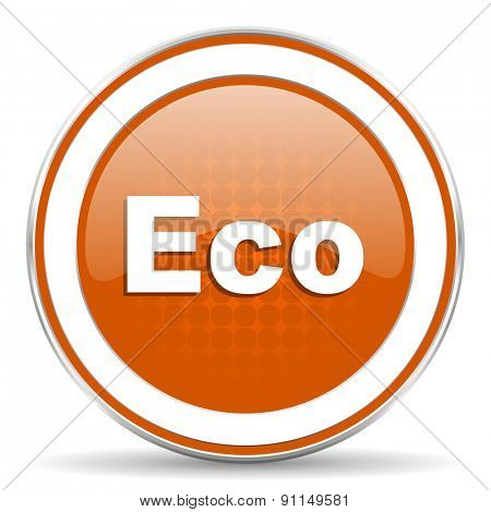 eco orange icon ecological sign
