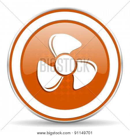 fan orange icon