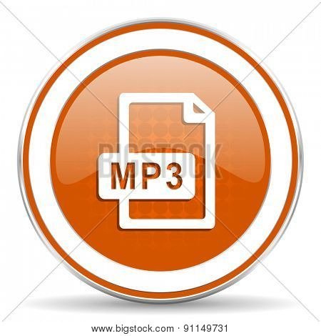 mp3 file orange icon