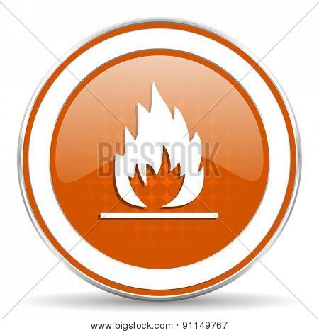 flame orange icon