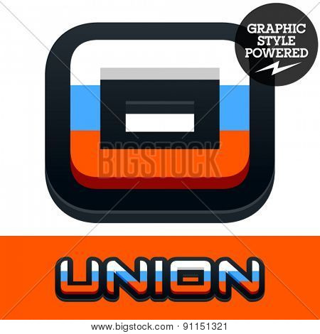 Vector set of Russian flag alphabet. File contains graphic styles available in Illustrator. Number 0
