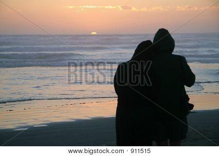 Silueta de pareja amorosa