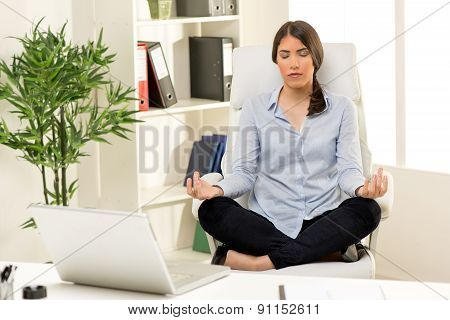 Businesswoman Meditating