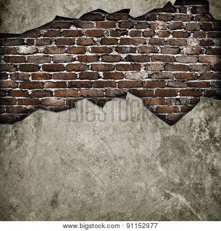 broken concrete wall