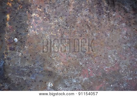 rusty metallic background, vector