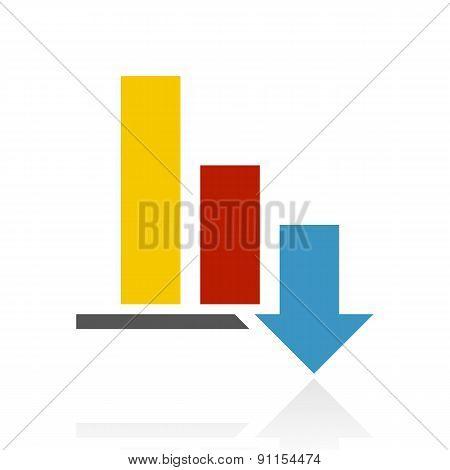Color Bar Graph Icon