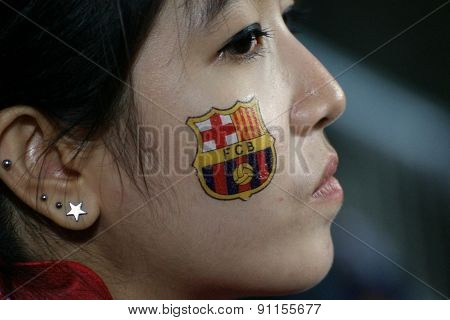Fans Of Fc Barcelona In Bangkok, Thailand.