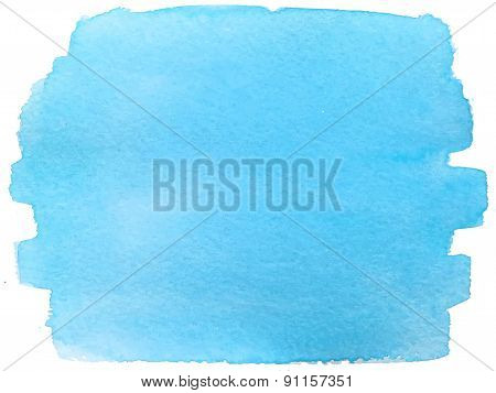 Abstract watercolor hand paint blue texture