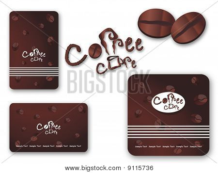 Vector coffee set