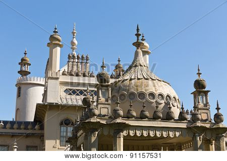 Royal Pavilion On A Sunny Day With No Clouds In The Sky