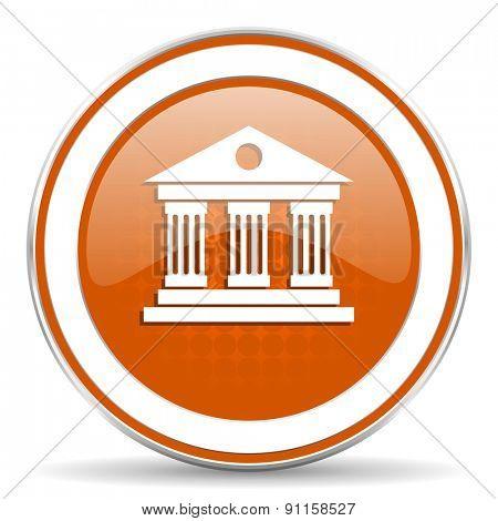 museum orange icon