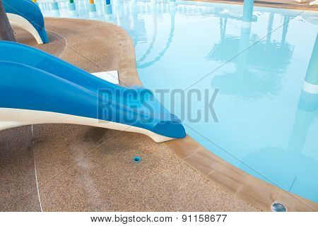 Small Slider In Public Water Park