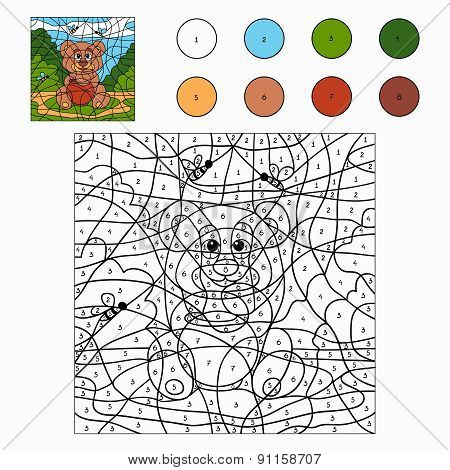 Color By Number (bear)