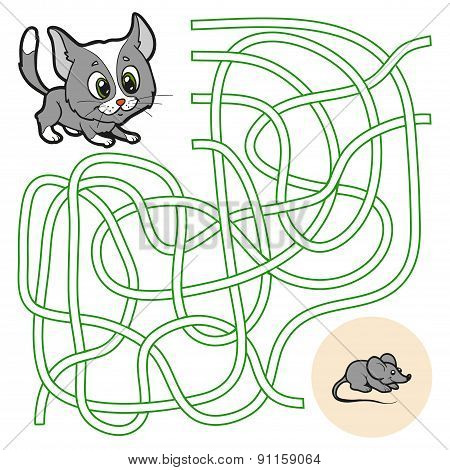 Maze Game For Children (cat)