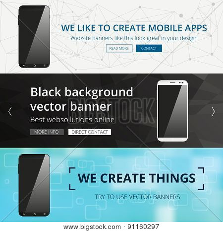 Vector website header set