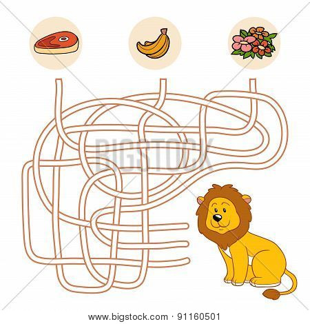 Maze Game (lion)