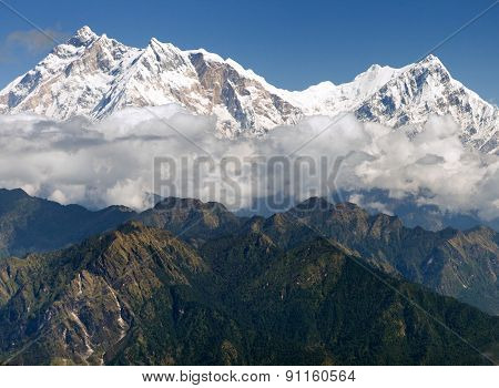View Of Annapurna Himal From Jaljala Pass - Nepal