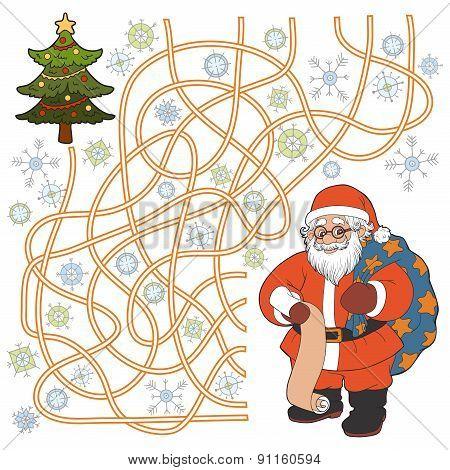 Maze Game (Santa Claus)