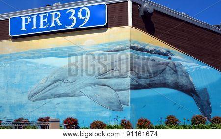 Pier 39 Wales mural