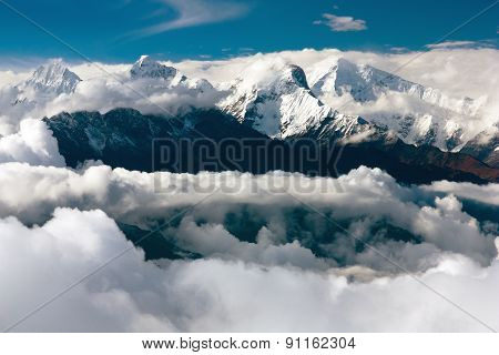 View From Langtang To Ganesh Himal