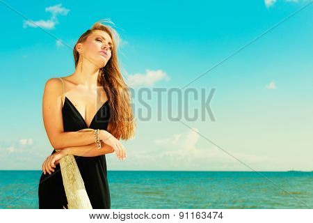 Beautiful Sexy Girl On Seashore