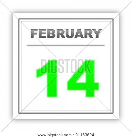 February 14. Day on the calendar. 3d