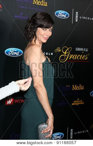 LOS ANGELES - MAY 19:  Catherine Bell at the 40th Anniversary Gracies Awards at the Beverly Hilton Hotel on May 19, 2015 in Beverly Hills, CA