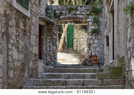 side street in  Croatia