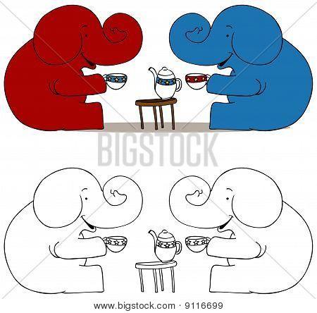 Tea Party Elephants