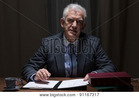 Elderly Elegant Man
