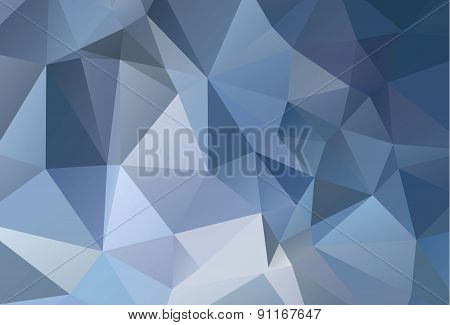 Blue Abstract Low Poly Background