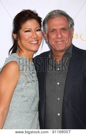 LOS ANGELES - MAY 18:  Julie Chen, Les Moonves at the CBS Summer Soiree 2015 at the London Hotel on May 18, 2015 in West Hollywood, CA