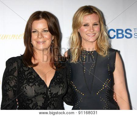 LOS ANGELES - MAY 18:  Marcia Gay Harden, Bonnie Sommerville at the CBS Summer Soiree 2015 at the London Hotel on May 18, 2015 in West Hollywood, CA