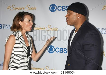 LOS ANGELES - MAY 18:  Keltie Knight, LL Cool J at the CBS Summer Soiree 2015 at the London Hotel on May 18, 2015 in West Hollywood, CA