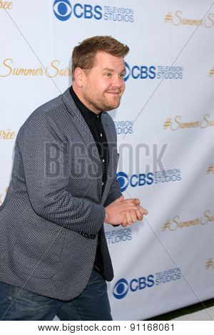 LOS ANGELES - MAY 18:  James Corden at the CBS Summer Soiree 2015 at the London Hotel on May 18, 2015 in West Hollywood, CA