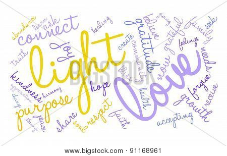 Light Word Cloud