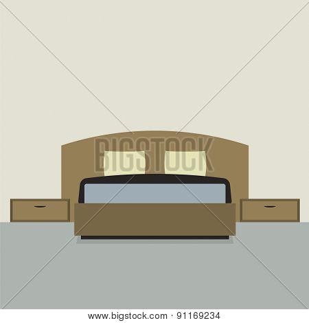 Flat Design Double  Bedroom.